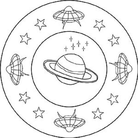 kinder mandalas weltraum planeten raumschiffe und
