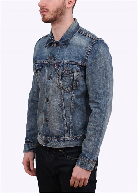 Selvedge Trucker Jacket levi s slim trucker bachmann jacket blue