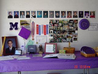 themes for senior presentation grad party photo displays table set up with a display of