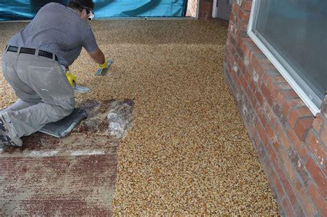 pebble epoxy patio overlay diy epoxy flooring 187 everlast 174 editorial