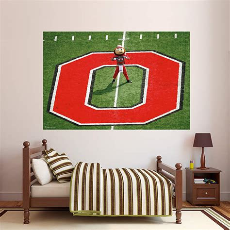 ohio state buckeyes home decor ohio state brutus buckeye mural wall decal shop