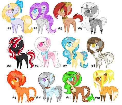 Chibi Pony Adopts Big Batch 1 By Desupanda Adopts On