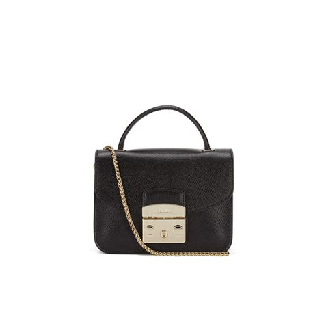 furla s metropolis top handle mini crossbody bag black