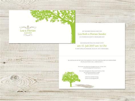 Einladung Hochzeit Natur by Hochzeitskarte Mit Einem Baum Als Klassisches Symbol F 252 R