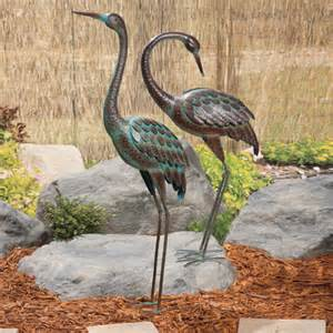 regal art amp gift decorative cranes pond and backyard d 233 cor bird feeders vinegar bird feeders