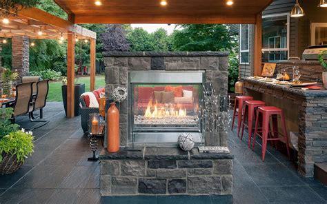 double walled fireplace under gazebo paradise restored