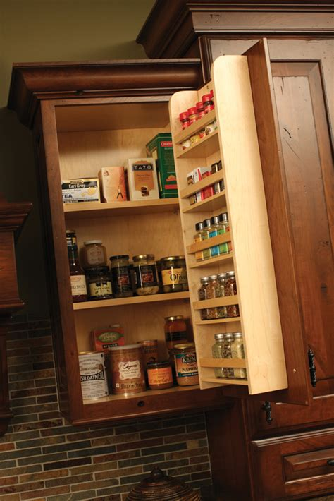 Small Kitchen Spice Storage Spice Racks Drawers Storage Dura Supreme Cabinetry