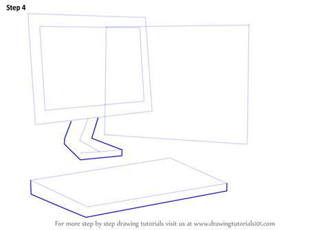how to draw on a computer learn how to draw a computer computers step by step