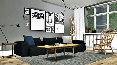 Scandinavian Living Conversion 4 By Mxims Teh Sims Living Room Sets New York