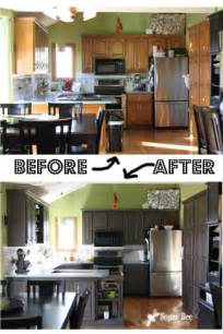 Refaced Kitchen Cabinets Before And After kitchen cabinet reveal thanks rustoleum sugar bee