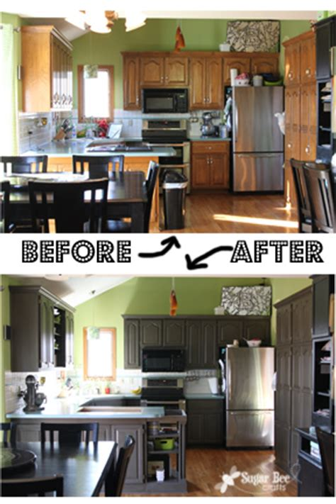 kitchen cabinet reveal thanks rustoleum sugar bee