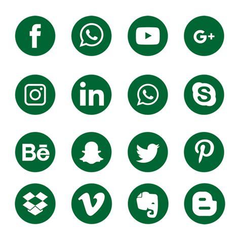 green social media icons social media icon png