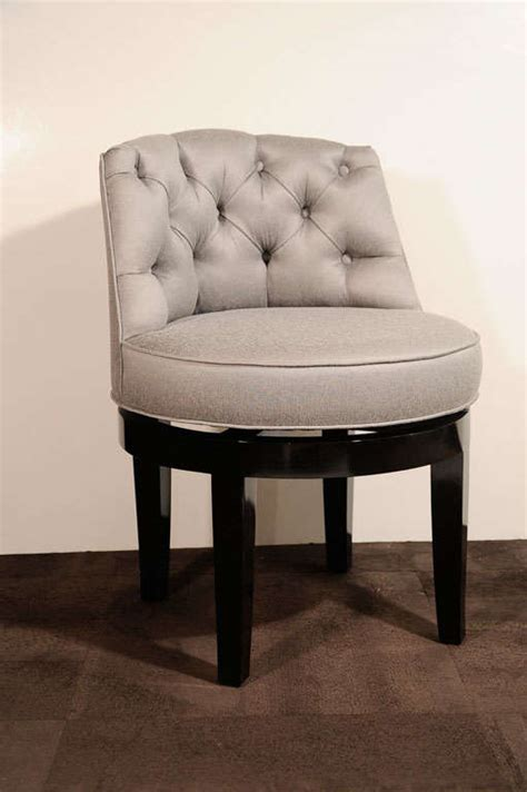 Tufted Vanity Stool by 1940 S Tufted And Swivel Vanity Stool At 1stdibs