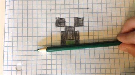 How To Make A Paper Creeper - how to make a creeper with graph paper