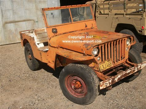 Gpw Jeep Owens Export Service 1942 Wwii Gpw Script Jeep