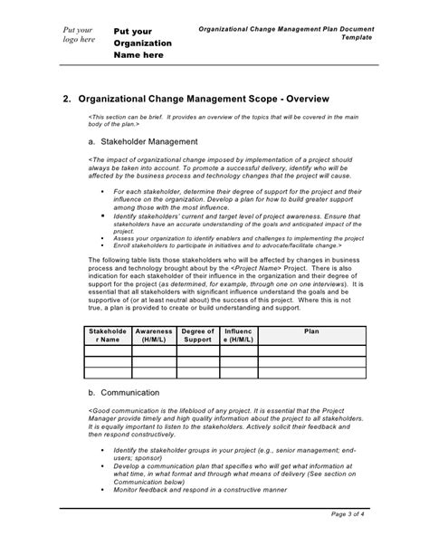 change management plan template change management plan template change management plan