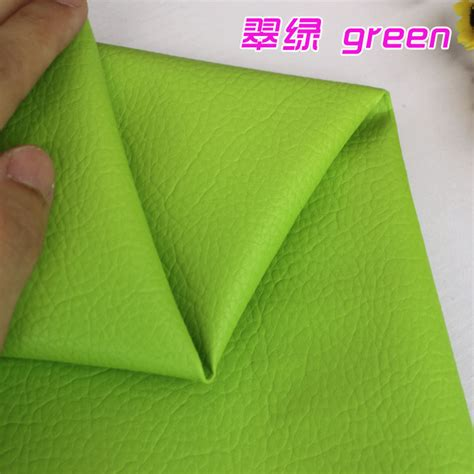 green leather upholstery fabric green big lychee pu leather faux leather fabric upholstery