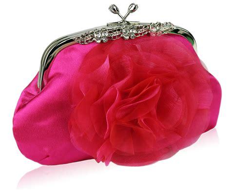 Clutch Satin Pink wholesale pink flower satin clutch