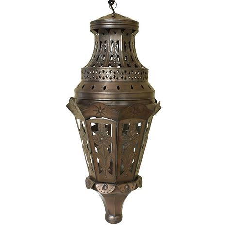 mexican tin lighting collection tres hojas lantern lamc81