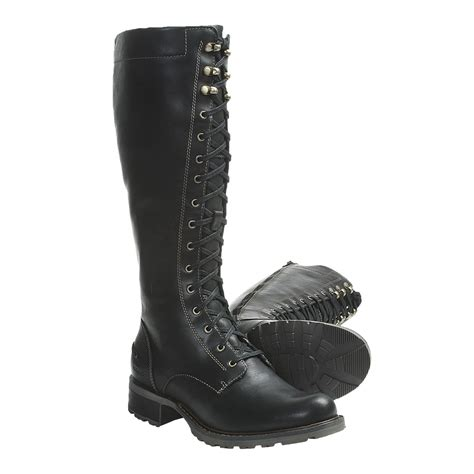 sebago saranac boots leather lace ups for