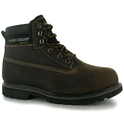 steel toe lace up work boots dunlop mens nevada steel toe cap lace up work safety shoes