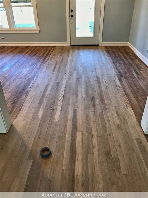 1 or 2 coats of stain on hardwood floors oak wood floors stained with bona gray t