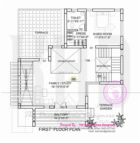 floor plan with roof plan flat roof house plan and elevation kerala home design