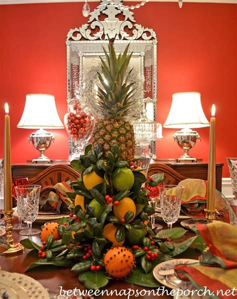 williamsburg christmas decorating ideas colonial williamsburg table setting with a lemon and lime tree centerpiece