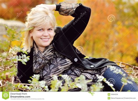 middleage woman fun woman in fall royalty free stock images image 33584239