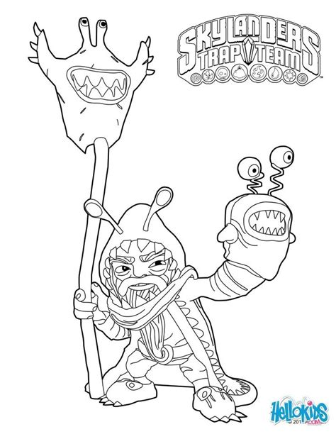 skylanders trap team coloring pages skylanders trap team coloring pages chompy mage