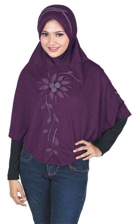 Kerudung Instan Trendy model kerudung bergo modern dengan trend bordir bunga yang feminine jilbab instan