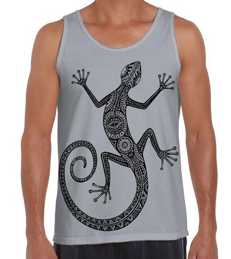 tattoo design vest tribal lizard design tattoo large print men s vest tank