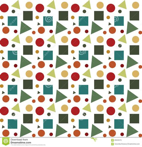 geometric background circles seamless pattern vector stock geometric shapes on white background vector seamless