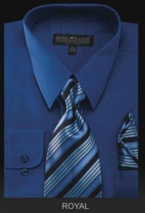 sku ry6009 s dress shirt premium tie royal