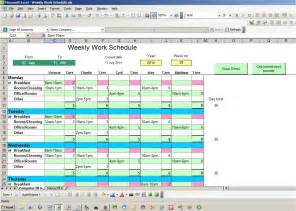 monthly schedule excel template ebook database