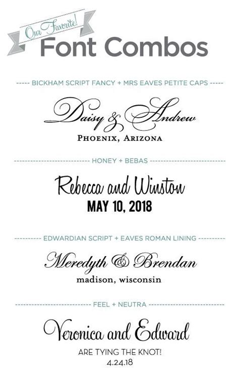 Wedding Font Combos by 17 Best Images About Design Fonts On