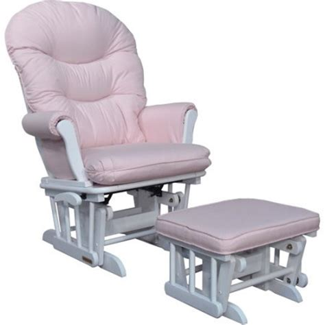 pink and white glider chair shermag richmond deluxe sleigh glider rocker and ottoman