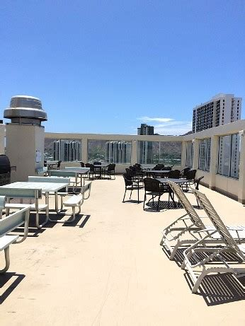 Waikiki Parking Garage Rates by Rooftop Seating And Bbq Area