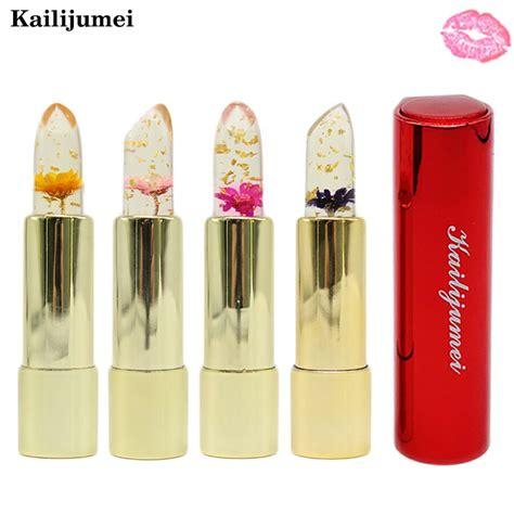 Promo Make Up Kailijumei Flower Jelly Lipstick Lipstik Bunga Gold aliexpress buy kailijumei lipstick magic color temperature change 100 original beautiful