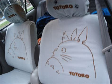 anime car seat covers happy monkey thinking totoro seat covers