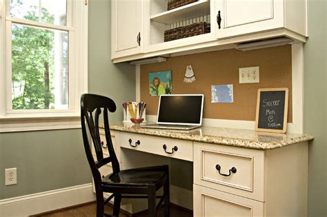 design home office using kitchen cabinets kitchen traditional home office raleigh by driggs