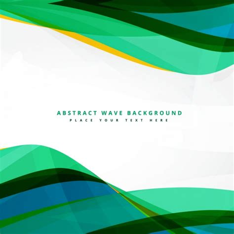 Clean Green Wavy Background Design Vector Free Download Clean Wavy Free Template For