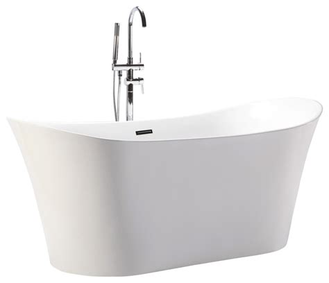 overflow bathtubs helixbath amathous freestanding acrylic bathtub 67 quot white