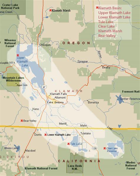 map of oregon klamath falls klamath falls basin bird photos for sale grebes pelican