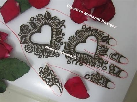 henna tattoo designs heart pretty shape floral henna mehndi design for