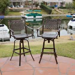 bar stools for outdoor patios set of 10 outdoor patio furniture cast aluminum swivel bar stools