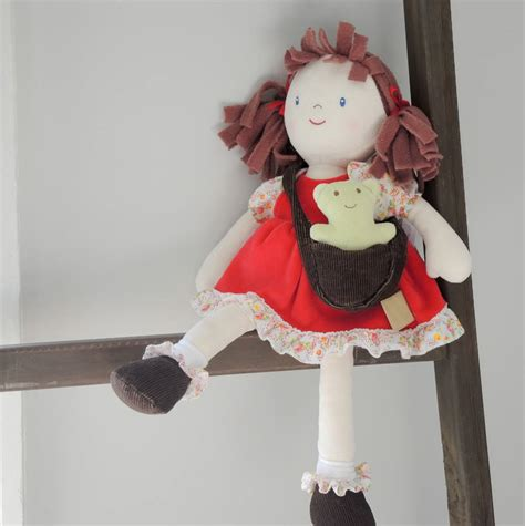 rag doll not on the high babies personalised megan rag doll by the alphabet gift