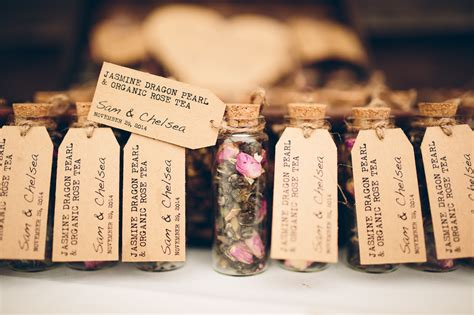 Handmade Wedding Favours - best diy wedding details of 2015 leaf tea wedding