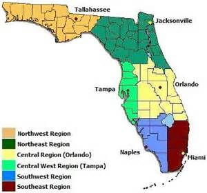 florida landform map florida chapter one regions and themes