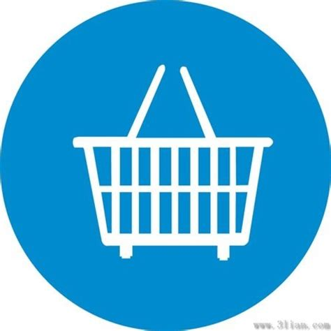 Keranjang File supermarket basket icon vector blue background free vector